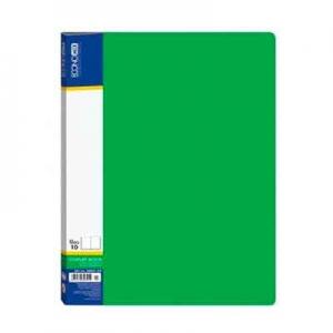 Папка А4 с 20 файлами Economix зеленая E30602-04