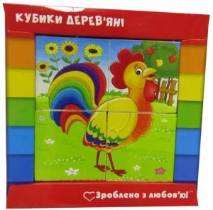 Кубики деревянные Ферма укр ZB1001-01