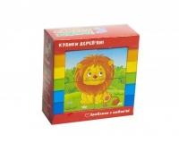 Кубики деревянные Зоопарк укр ZB1001-02