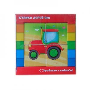 Кубики деревянные Транспорт укр ZB1001-03