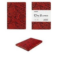 Блокнот А5 128л двусторонний крап/нелип красный The Runes Axent 8452-06-А