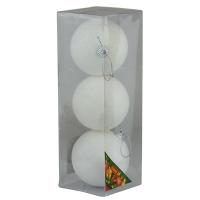 Набор елочных игрушек пластик 8см в упак 3шт 92175-PN