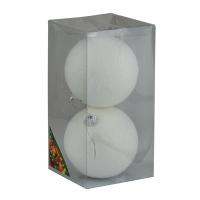Набор елочных игрушек пластик 10см в упак 2шт 92176-PN