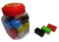 Точилка пластик конструктор в банке TIKI 52621-TK