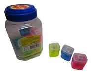 Точилка пластик с контейнером в банке TIKI 52622-TK