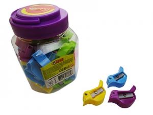 Точилка пластик Птичка в банке 36шт 52626-TK