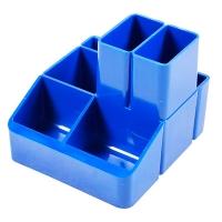 Подставка для ручек синий СТРП-04