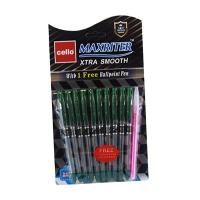 Ручка масляная зеленая Cello Maxriter 727+1 6-106