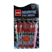 Ручка масляная красная Cello Maxriter  727+1 6-107