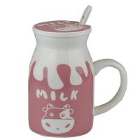 Чашка с крышкой+ложка MILK 52986