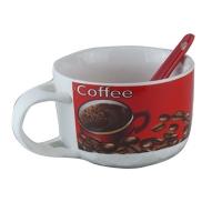 """Чашка """"Coffe"""" красн.+ложка 56268"""