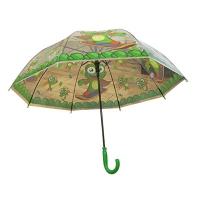 Зонтик-трость детский со свистком Забавные зверюшки клеенка 9-257 (10606)