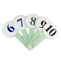 Веер цифры от 1 до 10 цветные