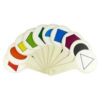 Веер геометрические фигуры и цвета К-5375
