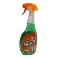 Средство для мытья стекл Мистер Мускул 500мл со спиртом (курок зеленый)   0153
