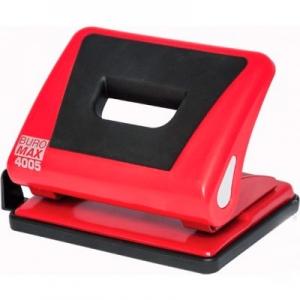 Дырокол 15л пластиковый с резинкой красный BUROMAX ВМ.4005-05