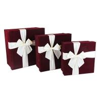 Подарочная коробка Бант 3в1 коричневая 10-512 (21998-22367)