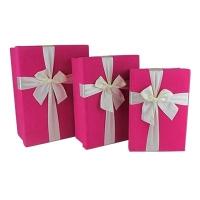 Подарочная коробка Бант 3в1 розовая 10-513 (21998-22367)