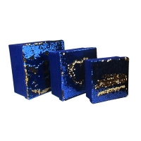 Подарочная коробка Паетки 3в1 синяя 10-514 (21998-22367)