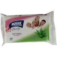 Салфетки влажные Novax Алоэ вера 60шт 2322