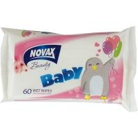 Салфетки влажные Novax детские 60шт 2445