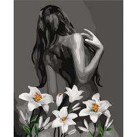 Набор для росписи по номерам 40*50см Роковая женщина КНО4615