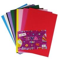 Фоамиран для творчества цветной плотный 10л цена за упак 9-72 (22224)