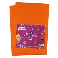 Фоамиран для творчества оранжевый 10л цена за упак 9-72 (22224)