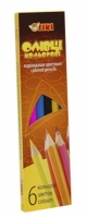 Карандаши цветные 6шт ТІКІ 51612-ТК