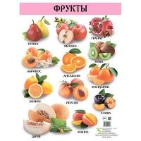 Плакат А2 Фрукты русский 96446   Кредо