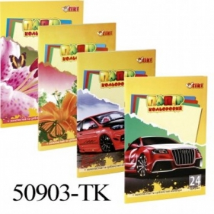 Бумага цветная А4 24л 12цв ТІКІ 50903-TK