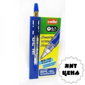 АКЦИЯ  Ручка масляная синяя 0,7мм CL-1192 6-357  Н1-21578