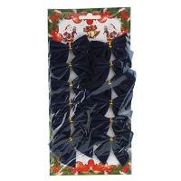 Набор бантиков новогодних синие 7-5 (А-6526)     (12/600)