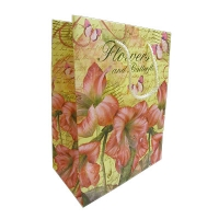 Пакет подарочный Цветы и бабочки 44*31*12 40455 52970
