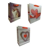 Пакет подарочный Сердца ас. 32*26 арт.683М (52976)