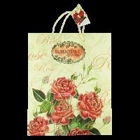 Пакет подарочный кр.цветы люр. ас. 32*26 40453