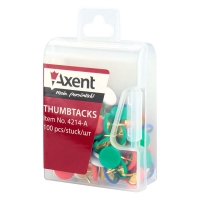 Кнопки цветные 100шт Axent 4214-А