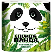 Бумага туалетная Снежная панда Бамбук 4шт (16)(415)