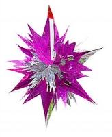Новогодняя подвеска Звезда 46см цветная фольга 90611-PN