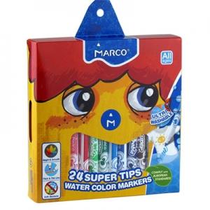 Фломастеры 24 цветов Marco Super Washable 1630-24