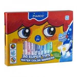 Фломастеры 36 цветов Marco Super Washable 1630-36