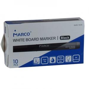 Маркер для досок круглый черный 10шт Marco Board 8600-10 black