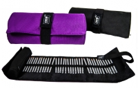 Пенал рулон для карандашей 36шт черный+фиолетовый 0501691J