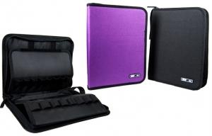 Пенал на 1 отделение для карандашей 48шт фиолетовый+черный 0501531J