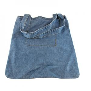 Сумка джинсовая вертикальная голубая 1-434 (11536)