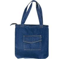 Сумка джинсовая вертикальная карман сверху 1-435 (11536)