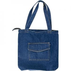 АКЦИЯ Сумка джинсовая вертикальная карман сверху 1-435 (11536)