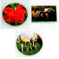 Магнить Цветы, Лошади керамика