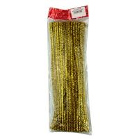 Набор для творчества Пушистые палочки золото (упак 100шт) 5-81 (6113)