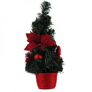 Искусственная елка зеленая 40см настольная рождественский цветок  5-92 (6261)